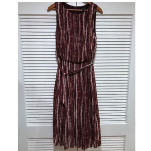 Banana Republic Oxblood Midi Dress
